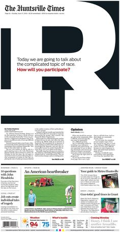 Really love the use of the one big letter when taking about something so important... race