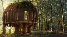 living building - 'Baubotanik' is an innovative design concept that created a living building. When translated, Baubotanik means 'living plant cons...