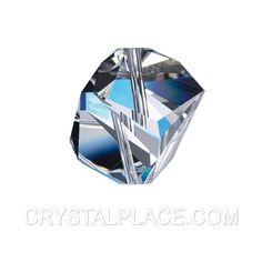 Swarovski crytstal Clear Faceted prism Cube Bead prism.In stock :$5.54