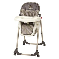 Baby Trend High Chair, Monkey Plaid