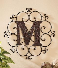 Metal Monogram Letters Wall Art Monogram Metal Sign  Black 135X125 Monogram Wall Art