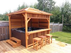 Hot Tub Enclosures for Winter - Everyone loves hot tubs! Here's how to enclose them! Informations About Hot Tub Enclosures for Win -