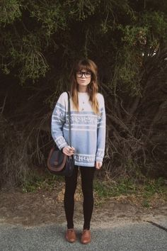 you can make leggings and over-sized sweater look a little less bummy by adding some cute oxfords