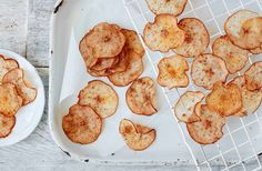 These easy spiced pear crisps require just two ingredients and make a delicious healthy snack. For more healthy recipes, head to Tesco Real Food.