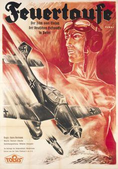"""""""Feuertaufe"""" - Plakat zu einem NS-Propagandafilm über den Einsatz der deutschen Luftwaffe in Polen"""