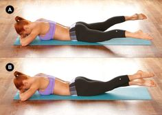 Leg Beat: assume position (A), then alternate opening your legs into a V-Shape & crossing one over the top of the other (B) alternating the leg on top with each beat, keep hips pressed onto the mat