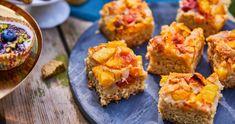 Kefires-őszibarackos kevert süti recept | Street Kitchen Recipies, Muffin, Food And Drink, Cupcakes, Baking, Breakfast, Sweet, Recipes, Morning Coffee