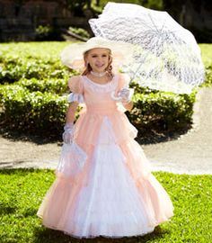 peachy southern belle girls costume - Only at Chasing Fireflies - Well, ah do declare, your little lady will be the sweetest belle you've ever set eyes on.