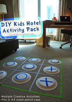 Traveling with kids can be fun, but keeping them entertained in the hotel room can be tricky. Find some easy games and kids activities in this DIY Kids Hotel Activity Pack