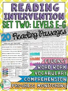 This reading intervention program has everything! Running record passages, comprehension, word work, vocabulary, progress monitoring, and much more! ($)