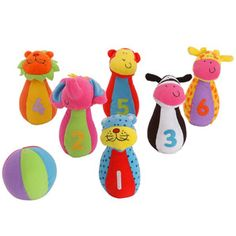 Jungle Pals Skittles Activity Toy A fun bowling game for young children. Set up the soft skittle animals and try to knock them over with the colourful bowling ball. The machine washable skittles each contain a rattle and the ball has  http://www.comparestoreprices.co.uk/baby-toys/jungle-pals-skittles-activity-toy.asp