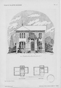 Villas and modern villas: projects and sketches of facades and plants  Tav. 41