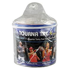 Tourna Tac Overgrip Pack of 30 (Black, X-Large) by Tourna. Tourna Tac XL fits the largest handles. Comes with 30 grips on a roll. Comes in a vinyl pouch. Made to the standards of pro tennis players. Used by many top professionals. Made in the USA.