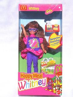 1993 McDonald's Happy Meal Whitney doll. Wow, was this really 20 years ago?! I remember buying her at the mall with my Grandma!