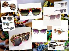 lunettes en tissu africain wax style ethnique afro tendance tribale african print shades by cewax.fr