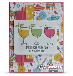 CARD: Every hour with you is a Happy One from Mixed Drinks (Stamp With Tami)