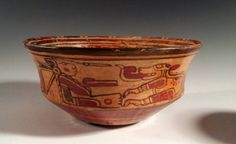 Delightful Mayan Copador Bowl - Man and His Dog Maya, Pottery, America, Ceramics, Dogs, Style, Sculpture, Art, Dishes