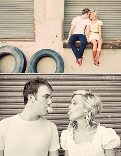 engagement shoot- perfect for old train station