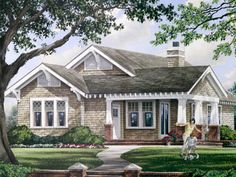 Craftsman House Plan with 1628 Square Feet and 3 Bedrooms from Dream Home Source | House Plan Code DHSW075750