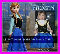 DIY Disney Frozen : DIY Princess Anna Dress
