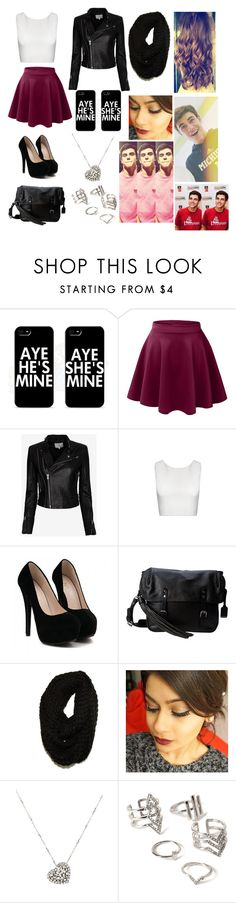 """Out with Jack Gilinsky"" by bri-avalos ❤ liked on Polyvore featuring Samsung, LE3NO, IRO, Alice + Olivia, Frye, Paula Bianco, Rina Limor and Forever 21"