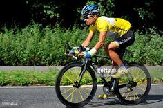01-17 Yellow jersey Linus Gerdemann (GER) during stage 6 of the... #schmallenberg: 01-17 Yellow jersey Linus Gerdemann… #schmallenberg