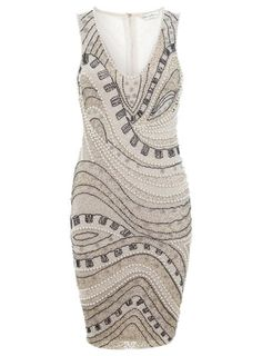 Nude Wave Embellished Dress - View All - Dress Shop Great Gatsby Fashion, Just Style, Gatsby Style, Going Out Dresses, Petite Outfits, Online Dress Shopping, Embellished Dress, Dress Me Up, Dresses Online