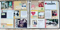 kelly noel - nice example of using smaller pics #projectlife