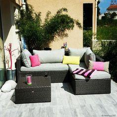 Farniente sur la terrasse ! Merci d'avoir partagé votre installation extérieure avec nous Magali ! #dccv #terrasse #dehors
