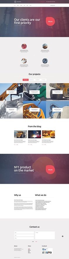 Industrial Company Site #WordPress #template. #themes #business #responsive