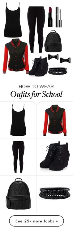 """Back to School"" by xxxladiidxxx on Polyvore featuring M&Co, Smashbox, Chanel, Marc by Marc Jacobs, Spring Street, women's clothing, women's fashion, women, female and woman"