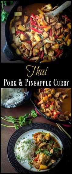 Thai Pork and Pineapple Curry Pin - A sweet, savor…