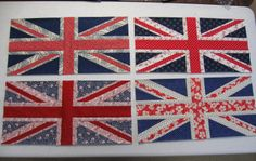 Stampin' on the Prairie: Quilt blocks for a quilt I am working on called His Royal Union Jack
