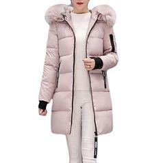 30b3ecc985c2 AngelSpace Women Plus Size Winter Slim Fit Mid Length faux fur Wadded Jacket