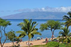 View of Moloka'i from the 6th floor of the Westin Kaanapali Ocean Resort Villas  #placesinparadisetravel.com