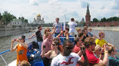 Summer excursion along the Moscow River