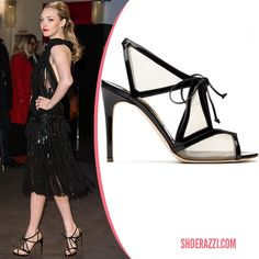 Amanda Seyfried wore Rupert Sanderson Harting sandals to the premiere of 'Les Miserables' at the 2013 Berlin International Film Festival.