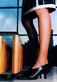 Christophe Kutner for Elle magazine, March 1999. Shoes by Martine Sitbon.