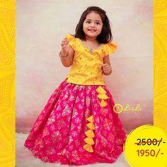 Kids Party Wear Dresses, Kids Dress Wear, Kids Gown, Dresses Kids Girl, Baby Girl Dress Design, Girls Frock Design, Kids Lehanga Design, Baby Girl Lehenga, Kids Lehenga