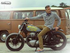 Laurent Scavone / Gentlemen's Factory au wheels and waves 2014 # kawasaki W650 apparel old school for bikers www.gentlemens-factory.com apparel - accessories - customization Photo : laurent scavone / http://scavonelaurentphotos.tumblr.com