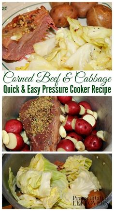 Here are directions for how to cook Corned Beef in an Instant Pot or a Pressure Cooker. A quick and easy recipe for corned beef and cabbage with potatoes. Power Cooker Recipes, Easy Pressure Cooker Recipes, Power Pressure Cooker, Instant Pot Pressure Cooker, Multi Cooker Recipes, Pressure Cooker Corned Beef, Cooking Corned Beef, Corned Beef Recipes, Corned Beef Seasoning