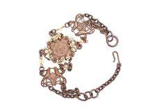 Lovebird and Swarovski Crystal Bracelet