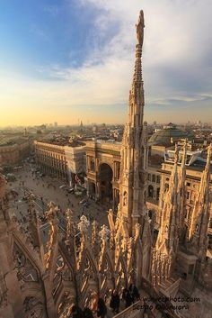 #Milan - view from the roof of the Duomo, #Lombardy, #Italy