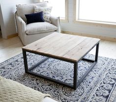 Ana White | Industrial Style Coffee Table as seen on DIY Network - DIY Projects