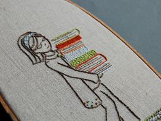 embroidery and books