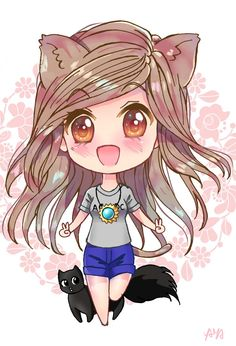 Neko Chibi Comission by YayaProject