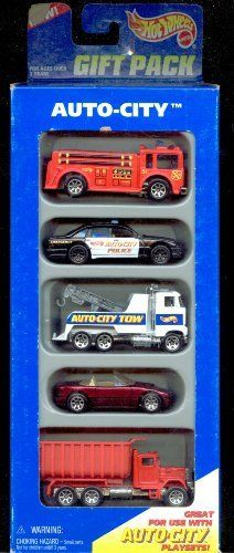 Hot Wheels 1995 Auto-city Gift Pack 1:64 Scale by MATTEL. $13.48. 1:64 DIE CAST COLLECTOR CAR