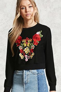 Floral Embroidered Mesh Top ($22.90)