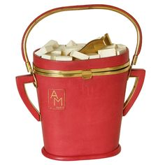 Anne-Marie Sugar Bowl Handbag | From a collection of rare vintage handbags and purses at http://www.1stdibs.com/fashion/accessories/handbags-purses/