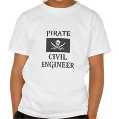 Pirate Civil Engineer T Shirt, Hoodie Sweatshirt